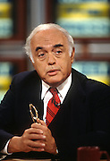 Conservative columnist Robert Novak on NBC's Meet the Press September 8 1996 in Washington, DC.