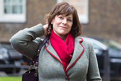 London - Minister of State at Department for Business, Energy and Industrial Strategy Claire Perry attends the weekly meting of the UK cabinet at Downing Street. January 23 2018.