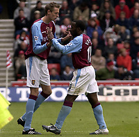 Picture: Henry Browne, Digitalsport<br /> NORWAY ONLY<br /> <br /> Date: 08/05/2004.<br /> Southampton v Aston Villa FA Barclaycard Premiership.<br /> <br /> Darius Vassell of Villa is substituted by Peter Crouch.