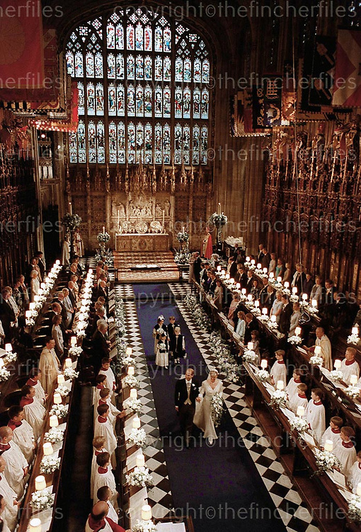 The wedding of Prince Edward to Sophie Rhys Jones at St.George's Chapel, Windsor,UK in June 1999.