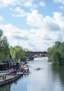 Maidenhead. Berkshire. United Kingdom. General view across the River, from Maidenhead Bridge, towards Maidenhead RC Boathouse. 2017 Maidenhead Junior Regatta  River Thames. [©Peter SPURRIER/Intersport Images] Sunday. 14.05.2017