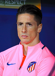 Atletico Madrid's Fernando Torres on the bench during the UEFA Europa League, Semi Final, Second Leg at Wanda Metropolitano, Madrid.