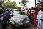 NPP leaders arrive at the private residence of presidential hopeful Nana Akuffo-Addo ahead of the official Electoral Commission declaration of election results. Accra-Ghana. December 8, 2016. Photo; Francis Kokoroko