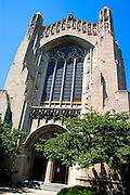 Rockefeller Chapel nondenominational at the University of Chicago campus at Hyde Park.  Chicago Illinois USA