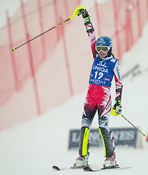 29.12.2014, Hohe Mut, Kühtai, AUT, FIS Ski Weltcup, Kühtai, Slalom, Damen, 2. Durchgang, im Bild Bernadette Schild (AUT) // Bernadette Schild of Austria reacts after 2nd run of Ladies Giant Slalom of the Kuehtai FIS Ski Alpine World Cup at the Hohe Mut Course in Kuehtai, Austria on 2014/12/29. EXPA Pictures © 2014, PhotoCredit: EXPA/ JFK