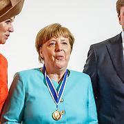 NLD//Middelburg20160421 - Four Freedoms Awards 2016, Konining Maxima, bondskanselier Angela Merkel en Koning Willem-Alexander