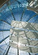 Light filtering into rotunda at City Hall in San Jose, CA