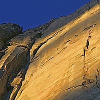 BAFFIN ISLAND, Nunavut, Canada. Portaledge bivouac camp, during big wall rock climbing expedition on Great Sail Peak.