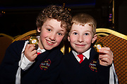 07/04/2019 repro free: Daithi O Faithaigh 7 and  Luke Coyne Carnmore NS with their medals  at Scriobh Leabhair organised by The Galway Education centre and help at the Salthill Hotel  . Photo: Andrew Downes, Xposure