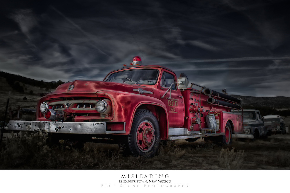 20x30 poster print of a historical red fire truck.