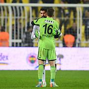 Fenerbahce's goalkeeper Volkan Demirel (B) during their Turkish superleague soccer match Fenerbahce between Sivasspor at the Sukru Saracaoglu stadium in Istanbul Turkey on Friday 12 December 2014. Photo by Kurtulus YILMAZ/TURKPIX