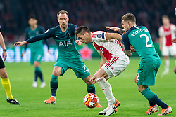 08-05-2019 NED: Semi Final Champions League AFC Ajax - Tottenham Hotspur, Amsterdam<br /> After a dramatic ending, Ajax has not been able to reach the final of the Champions League. In the final second Tottenham Hotspur scored 3-2 / Dusan Tadic #10 of Ajax, Kieran Trippier #2 of Tottenham Hotspur