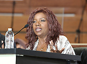 ATLANTA, GA - MAY 13:  Singer Gloria Gaynor speaks on the Baseball and the Civil Rights Movement Roundtable panel at Ebenezer Baptist Church on May 13, 2011 in Atlanta, Georgia.  (Photo by Mike Zarrilli/Getty Images)