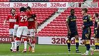 Middlesbrough's Paddy McNair celebrates scoring his side's second goal <br /> <br /> Photographer Alex Dodd/CameraSport<br /> <br /> The EFL Sky Bet Championship - Middlesbrough v Stoke City - Saturday 13th March 2021 - Riverside Stadium - Middlesbrough<br /> <br /> World Copyright © 2021 CameraSport. All rights reserved. 43 Linden Ave. Countesthorpe. Leicester. England. LE8 5PG - Tel: +44 (0) 116 277 4147 - admin@camerasport.com - www.camerasport.com