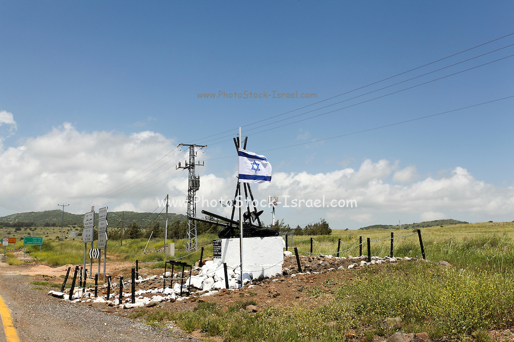 Golan Heights, Israel. A memorial for the fallen soldiers of the Yom Kippur (1973) war