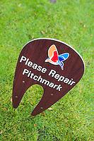 LEGEMEER - BurgGolf golfbaan St. Nicolaasga. Pitchmark repareren. COPYRIGHT KOEN SUYK