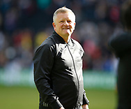Chris Wilder manager of Sheffield Utd during the English League One match at  Stadium MK, Milton Keynes. Picture date: April 22nd 2017. Pic credit should read: Simon Bellis/Sportimage