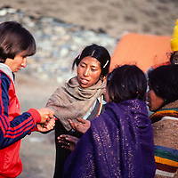 A doctor treats villagers during a trek around Annapurna in Nepal.