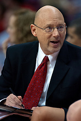 31 December 2009: ISU Associate Head Coach Randy Norton. The Bulldogs of Drake fall to the Redbirds of Illinois State University by a score of 77-58in a Missouri Valley Conference game on Doug Collins Court in Redbird Arena in Normal Illinois.