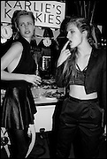 EDIE CAMPBELL; OLYMPIA CAMPBELL; , The World's First Fund Fair  in aid of Natalia Vodianova's charity the Naked Heart Foundation. The Roundhouse. London. 24 February 2015.