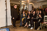 ALBER ELBAZ; ALEX SHULMAN; SHARLEEN SPITERI, The Launch of the Lanvin store on Mount St. Presentation and cocktails.  London. 26 March 2009