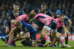 December 16, 2017 - Dublin, Ireland - Dan Leavy (with the ball) of Leinster team in action during Leinster vs Exeter Chiefs - the  European Rugby Champions Cup rugby match at Aviva Stadium...On Saturday, 16 December 2017, in Dublin, Ireland. (Credit Image: © Artur Widak/NurPhoto via ZUMA Press)