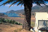 Looking toward Catalina Harbor from the Banning House Lodge, Two Harbors, Catalina Island, California