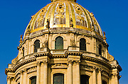 Gold dome on the Chapel of Saint-Louis (burial site of Napoleon), Les Invalides, Paris, France
