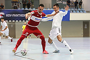 Futsal: 1. Bundesliga, HSV-Panthers - Stuttgart Futsal Club, Hamburg, 11.09.2021<br /> Sasa Babic (Stuttgart, l.)<br /> © Torsten Helmke