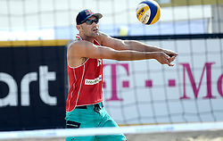 17-07-2014 NED: FIVB Grand Slam Beach Volleybal, Apeldoorn<br /> Poule fase groep A mannen - Philip Dalhausser USA