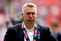 Aston Villa manager Dean Smith at the end of the Sky Bet Championship Play-off final at Wembley Stadium, London.