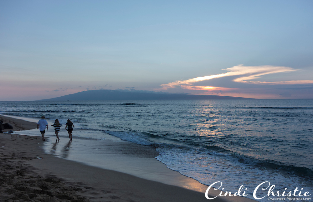 Sunset is seen from from Ka'anapali Beach in Lahaina, Hawaii, on Sunday, Oct. 27, 2013. (© 2013 Cindi Christie/Cyanpixel)