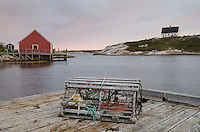 Wooden lobster trap at Peggy's Cove Nova Scotia