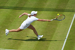 LONDON, ENGLAND - Wednesday, June 23, 2010: Justine Henin (BEL) during the Ladies' Singles 2nd Round on day three of the Wimbledon Lawn Tennis Championships at the All England Lawn Tennis and Croquet Club. (Pic by David Rawcliffe/Propaganda)