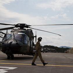Hélicoptère NH90 de NH Industries à l'occasion du 60ème anniversaire l'Aviation Légère de l'Armée de Terre (ALAT) au Luc en provence.<br /> Juin 2014 / Le Luc en Provence / Var (83) / FRANCE