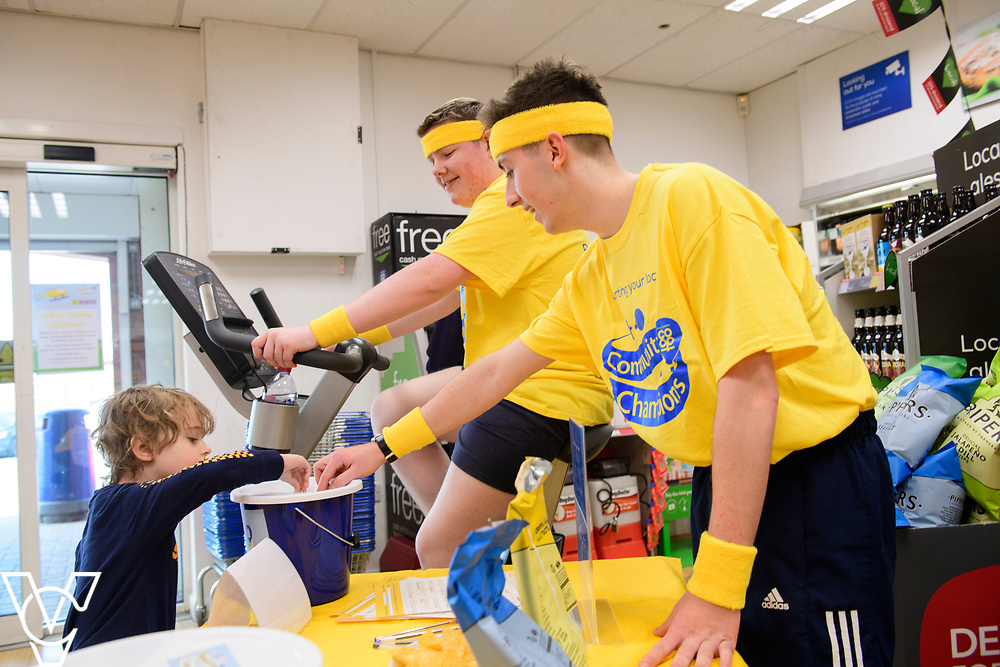 Lincolnshire Co-op colleagues from Saxilby Food Store took part in the society's Wear it Yellow day, raising money for the Lincolnshire and Nottinghamshire Air Ambulance, part of the Community Champions Scheme.<br /> <br /> Picture: Chris Vaughan Photography for Lincolnshire Co-op<br /> Date: March 30, 2019