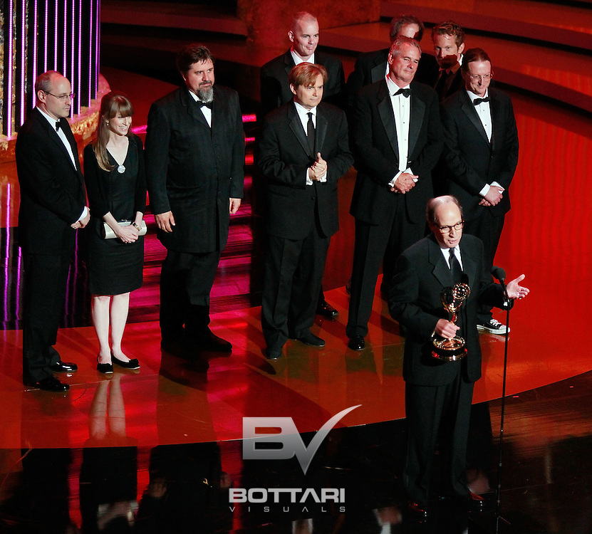 Executive producer Harry Friedman accepts the Outstanding Game/Audience Participation Show award during the Daytime Emmy Awards on Sunday June 19, 2011 in Las Vegas. (AP Photo/Jeff Bottari)