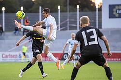 Elijah Just (FC Helsingør) under kampen i 1. Division mellem FC Helsingør og Vendsyssel FF den 18. september 2020 på Helsingør Stadion (Foto: Claus Birch).