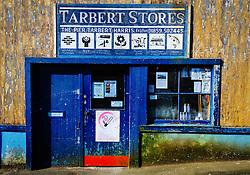 Frontage of Tarbert Stores, Tarbert, isle of harris, Outer Hebrides, Scotland<br /> <br /> (c) Andrew Wilson | Edinburgh Elite media