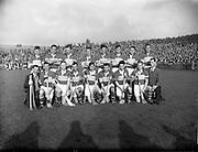 23/10/1960<br /> 10/23/1960<br /> 23 October 1960<br /> Oireachtas Final: Cork v Tipperary at Croke Park, Dublin.<br /> Tipperary team.