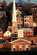 ILLINOIS, HISTORIC SITES Galena, IL, historic mining town, with many historic homes and churches on steep hillsides
