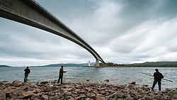 View of Skye bridge linking mainland to Isle of Skye, Scotland, UK