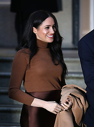 Prince Harry (Duke of Sussex) and Meghan Markle (Duchess of Sussex) visit Canada House, London, UK, on January 7, 2020.<br /><br />7 January 2020.<br /><br />Please byline: Vantagenews.com