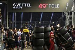 September 16, 2017 - Singapore, Singapore - Motorsports: FIA Formula One World Championship 2017, Grand Prix of Singapore, ..49th Pole of #5 Sebastian Vettel (GER, Scuderia Ferrari) (Credit Image: © Hoch Zwei via ZUMA Wire)