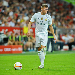 05.08.2015, Allianz Arena, Muenchen, GER, AUDI CUP, FC Bayern Muenchen vs Real Madrid, im Bild Toni Kroos (Real Madrid) // during the 2015 Audi Cup Match between FC Bayern Munich and Real Madrid at the Allianz Arena in Muenchen, Germany on 2015/08/05. EXPA Pictures © 2015, PhotoCredit: EXPA/ Eibner-Pressefoto/ Stuetzle<br /> <br /> *****ATTENTION - OUT of GER*****