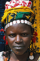Mali, Pays Dogon, Sangha, ethnie Dogon // Mali, Dognon country, Sangha area, Woman from Dogon ethnic group