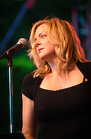 Storm Large sitting in on lead vocals with Pink Martini at Longwood Gardens in Kennett Square, Pa. Storm was sitting in for China Forbes who is sidelined for about six months due to throat surgery.