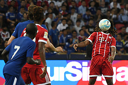 SINGAPORE, July 25, 2017  Bayern Munich's Renato Sanches (R) competes during the International Champions Cup soccer match between Chelsea and Bayern Munich in Singapore's National Stadium, on July 25, 2017. Bayern Munich won 3-2. (Credit Image: © Then Chih Wey/Xinhua via ZUMA Wire)
