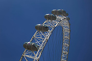 Arch of the London Eye at the Southbank, London. A hugely popular attraction for both tourists and Londoners alike.