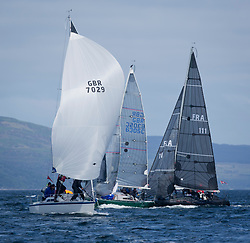 Clyde Cruising Club's Scottish Series 2019<br /> 24th-27th May, Tarbert, Loch Fyne, Scotland<br /> <br /> Day 1, GBR7029, Farr e Nuff, Fairlie YC & Largs SC, Farr 727, FRA111, F'nGr8,  Carrickfergus YC,First<br /> <br /> Credit: Marc Turner / CCC